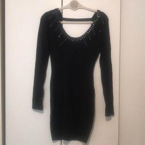 Black backless Marciano sweater dress